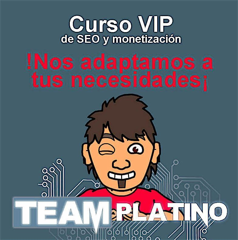 curso de seo de Team Platino Chuiso