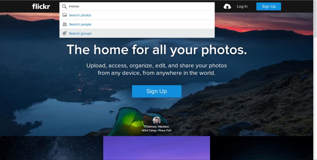 buscar en flickr