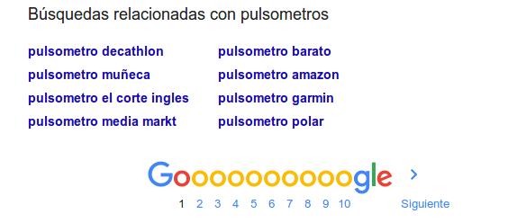 busquedas relacionadas de google
