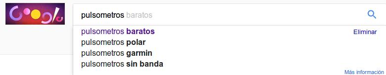 sugerencias de palabras clave de google